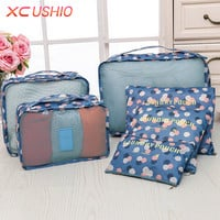 6 Pcs set Travel Suitcase Closet Divider Container Storage Bag Set for Clothes Tidy Organizer Packing Cubes Laundry Bag