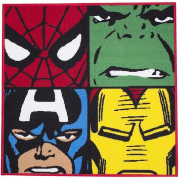 Marvel Character World Disney Comics Defenders Shaped Rug