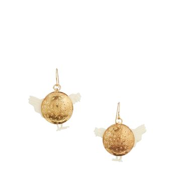 N2 By Les Nereides Gold Chicken Earrings
