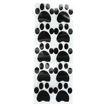 Brand New Removable 10Pcs Cat Dog Paw Prints Wall Stickers Art Decal Kids Bedroom Home Dormitory Car Refrigerator Decor