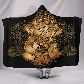 Baby Ganesha Hooded Blanket