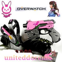 Game Overwatch D.Va Headset PVC Cosplay Props Weapon OW Prop