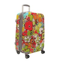 Olympia Luggage Blossom 21 Inch Expandable Hard Case Carry-On Bag