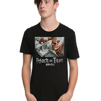 Attack On Titan Above View Slim-Fit T-Shirt