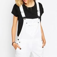 ASOS PETITE 90s Style Overalls in White