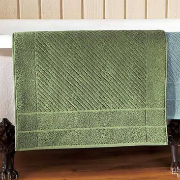 "Oversized Quick Drying Bath Mat 100% Cotton Terry 22"" x 36"" Absorbent"