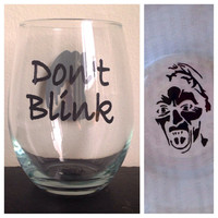 Dont blink stemless wine glass beer mug