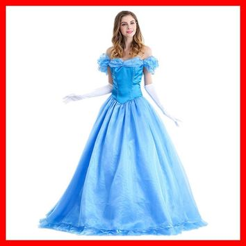 Women Halloween cendrillon adulte Cosplay Adult Princess Cinderella Costume Sexy Adult Cinderella Costume