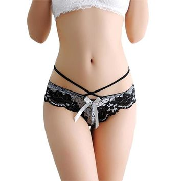 Sexy Women Lace Thongs Panties Low Waist Intimates Women Lingerie Breathable Thongs