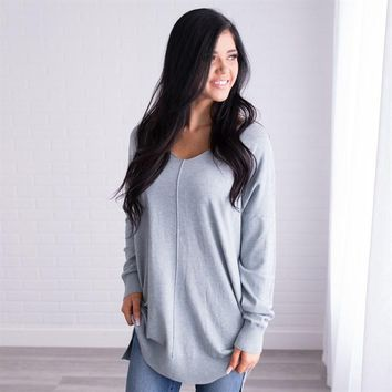 Jasper Grey Sweater by DREAMERS