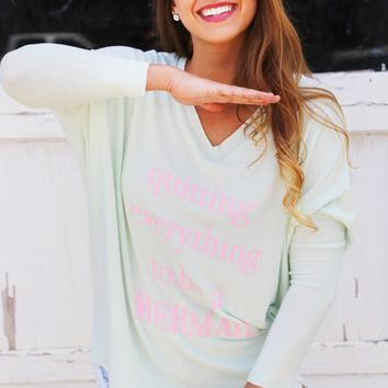 Letters Printed Knitted Sweater Shirt B007767