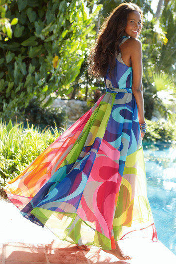 Carnivale Dress I Brightly Colored From