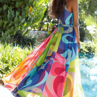 Carnivale Dress I - Brightly Colored, Bold Print Maxi Dress, Dresses, Clothing | Soft Surroundings