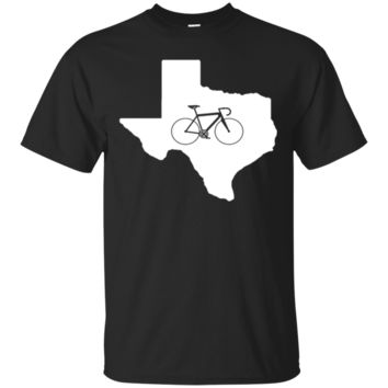 Bicycle Texas T-Shirt, Cyclist Apparel, State Road Bike