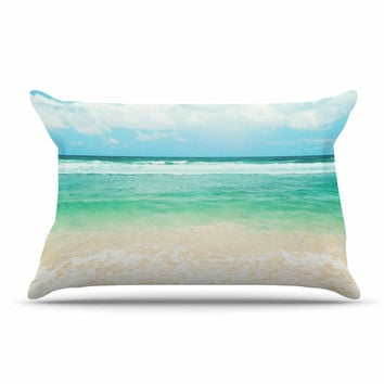 "Sylvia Cook ""Endless Sea"" Coastal Blue Pillow Case"