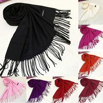 Cashmere Solid Wrap Scarf