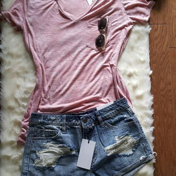 Blue Jean Cut off Shorts