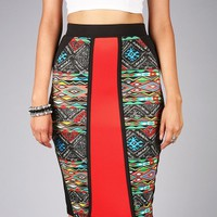 Fiery Soul Midi Skirt | Trendy Skirts at Pink Ice