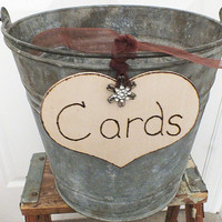 Rustic wedding cards sign DIY card box sign
