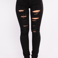 Boo Thang Skinny Jeans - Black