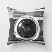 iPhone5 case Old School Camera Phone - Also available as iPhone4 case and iPhone skin Throw Pillow by Nicklas Gustafsson