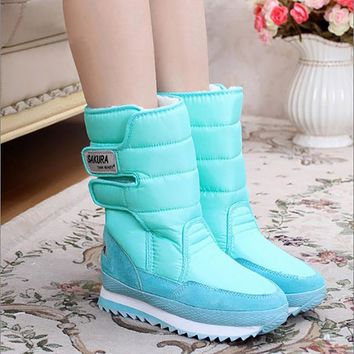 Women's snow boots winter Non-slip weatherproof Leisure Various color 2017 hot sale woman boots