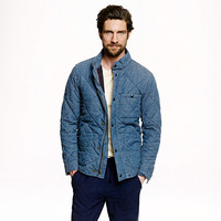 J.Crew Mens Broadmoor Quilted Jacket In Japanese Chambray