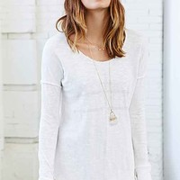 Truly Madly Deeply Textured Rose Sword Sweater- Ivory