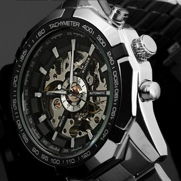 Winner Luminous Brand Watch Men Fashion Clock Skeleton Automatic Mechanical Relogio Male Luxury Montre Wristwatch Reloj Hombre