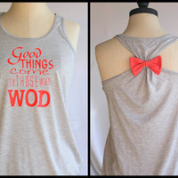 Crossfit WOD Bow Tank Top Flowy - MEDIUM