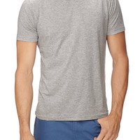 Basic Heathered Tee Heather Grey
