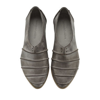 Black shoes, Michelle, handmade, flats, leather shoes, by Tamar Shalem on etsy