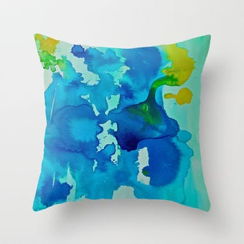 Topography Throw Pillow by DuckyB (Brandi)