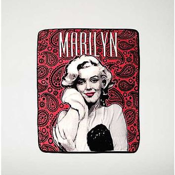Paisley Marilyn Monroe Fleece Blanket - Spencer's