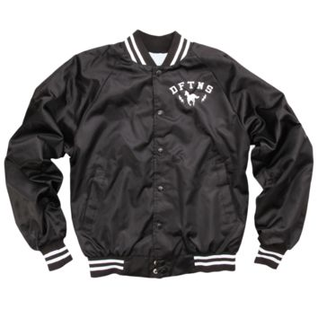 Pony Bolt Black Baseball Jacket