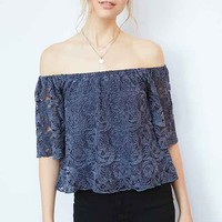 Ecote Utopia Lace Off-The-Shoulder Top