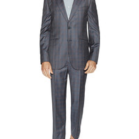 Hardy Amies Men's Checked Wool Suit - Size 40r