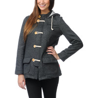 Glamour Kills Trenches Charcoal Grey Hooded Jacket
