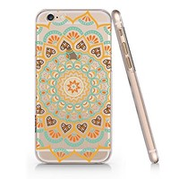 Supertrampshop - Mandala Floral Customized Text - Cover Iphone 6 6s Full Protection Durable Transparent Plastic Case (VAS568)