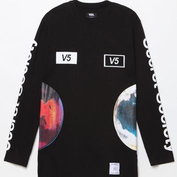 Vandal SSV5 Universal Long Sleeve T-Shirt - Mens Tee - Black