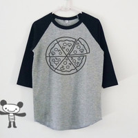 Pizza tshirt toddlers children raglan shirt for kids boy girl clothing gift ideas
