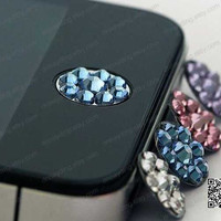 iphone button sticker crystal home button sticker for iphone 4 iphone 5 ipad mini ipad 2 3 4 cell phone adornment charm case DIY accessories