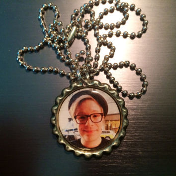 Patrick Stump face Fall Out Boy bottlecap necklace