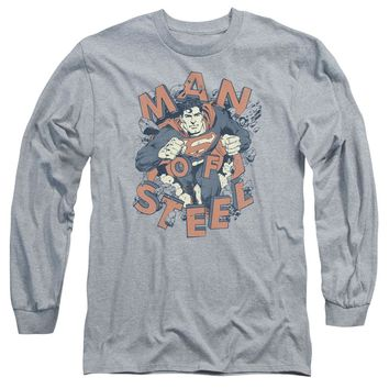 Superman - Coming Through Long Sleeve Adult 18/1