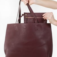 Downtown Babe Tote - Burgundy