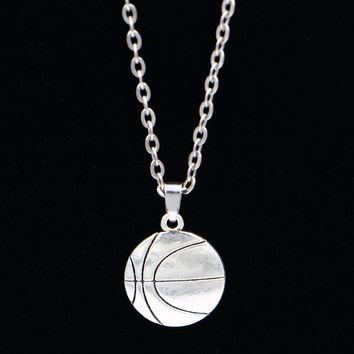 New Arrivals Silver Link Chain Vintage Choker Necklace Fashion Jewelry basketball Charm Pendant Necklace Gift For Women Men