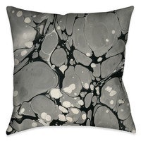 Gray Marble Decorative Pillow