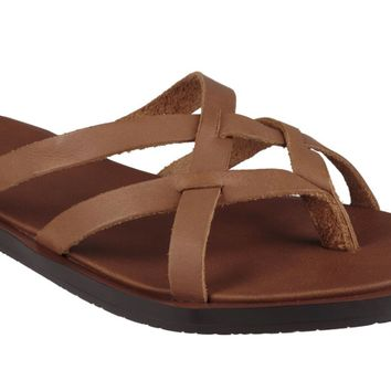 Sanuk Yoga Strappy Tobacco Leather Sandals