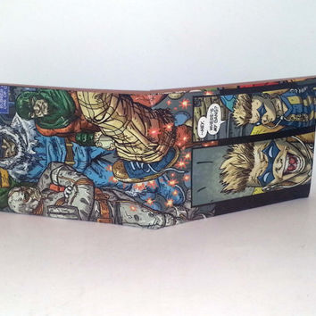 Comic Book Wallet// Flash Rogues// Heatwave, Captain Cold, Mirror Master, and Trickster