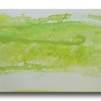 Abstract art canvas green